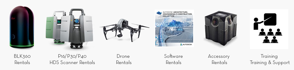 Software, 3D Laser Scanners, Drones, Accessories, BLK360, RTC360